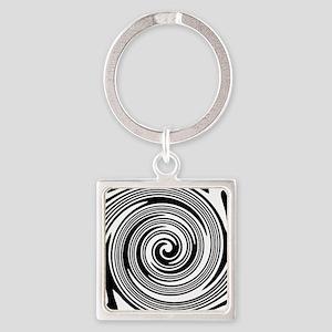 Black and white swirl pattern Keychains