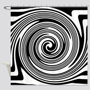 Black and white swirl pattern Shower Curtain