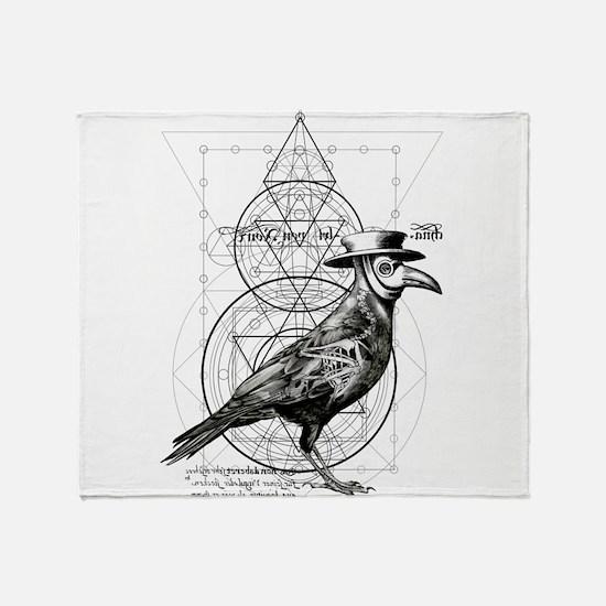 The Plague Raven Throw Blanket