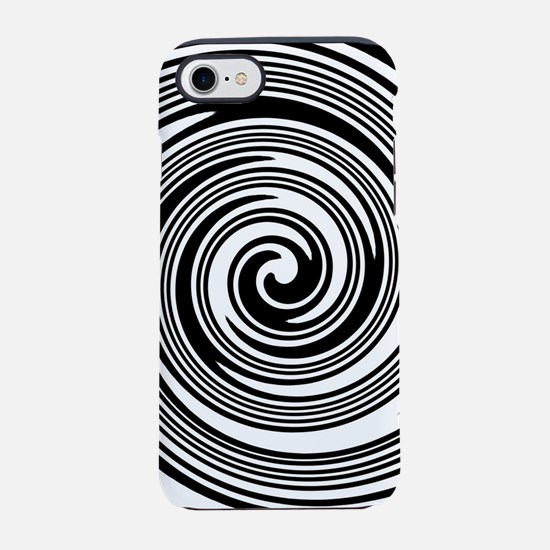 Black and white swirl patter iPhone 8/7 Tough Case