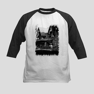 Old Haunted House Kids Baseball Jersey