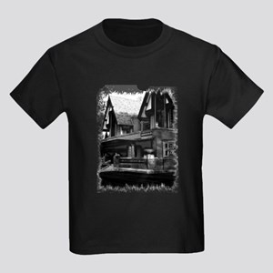 Old Haunted House Kids Dark T-Shirt