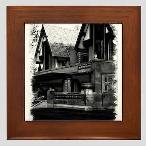 Old Haunted House Framed Tile