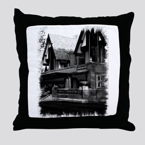 Old Haunted House Throw Pillow