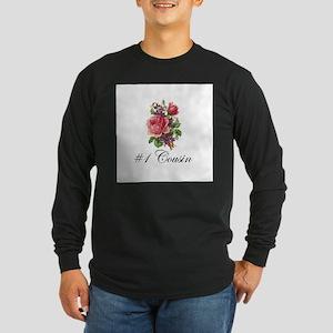 #1 Cousin Long Sleeve Dark T-Shirt