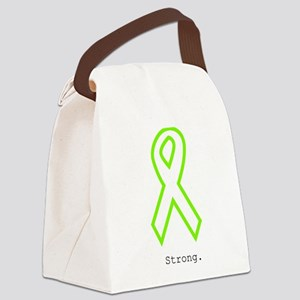 Lime Outline. Strong Canvas Lunch Bag