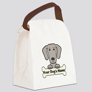 Personalized Weimaraner Canvas Lunch Bag
