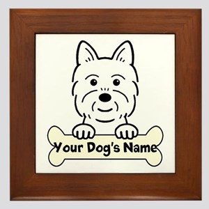 Personalized Westie Framed Tile