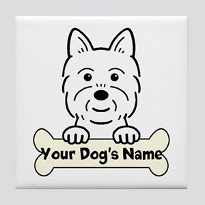 Personalized Westie Tile Coaster