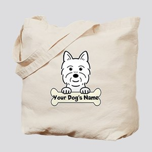 Personalized Westie Tote Bag