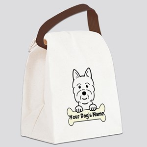 Personalized Westie Canvas Lunch Bag