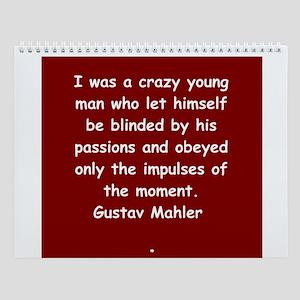Gustav Mahler Wall Calendar