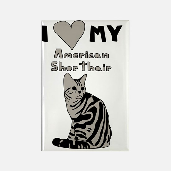 Cute American shorthair Rectangle Magnet