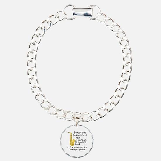 Cute Saxophone Charm Bracelet, One Charm