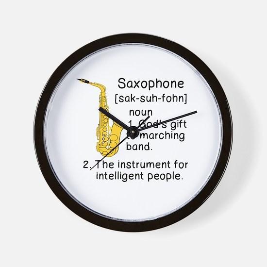 Cute Saxophone Wall Clock