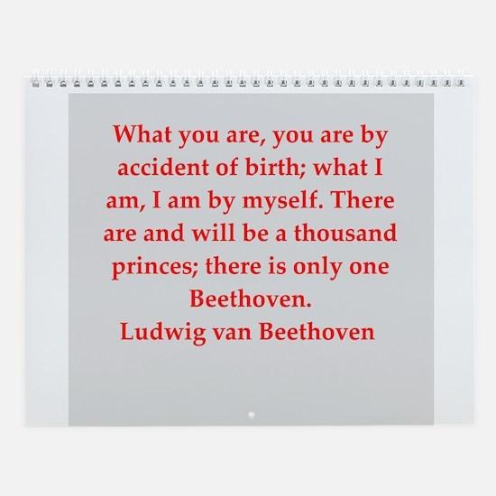 Beethoven Wall Calendar
