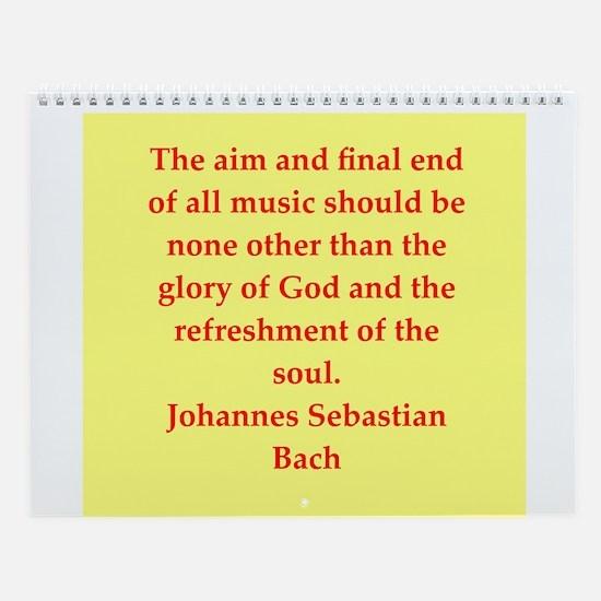 Bach/mozart Wall Calendar