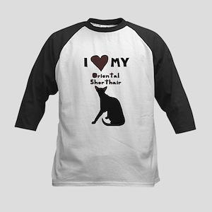 I Heart My Oriental Shorthair Cat Baseball Jersey