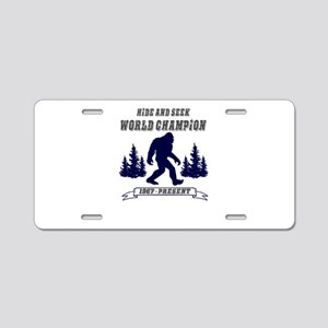 Hide and Seek World Champio Aluminum License Plate