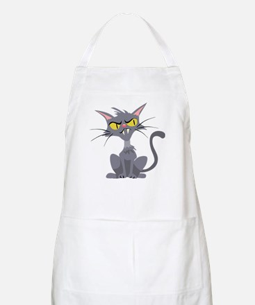Grey Cat BBQ Apron