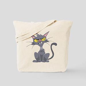 Grey Cat Tote Bag