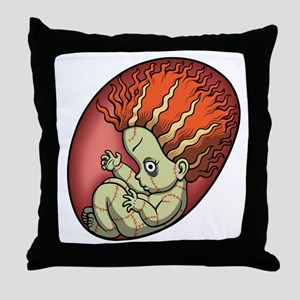 Ginger Zombie Throw Pillow