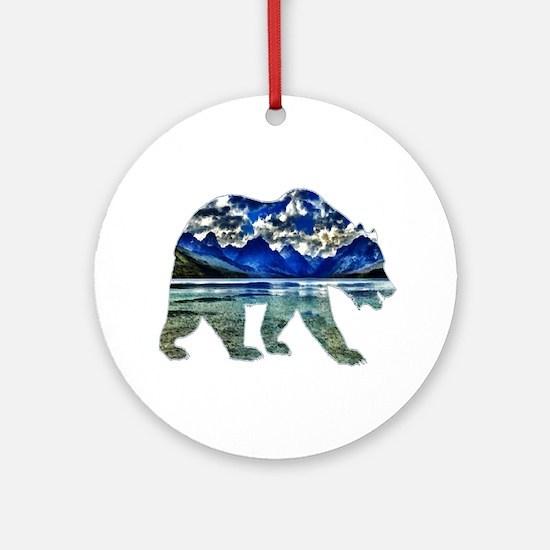 BEAR Round Ornament