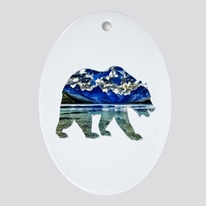 BEAR Oval Ornament