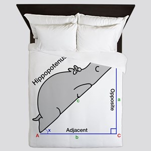 Hippopotenuse Queen Duvet