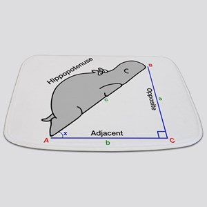 Hippopotenuse Bathmat