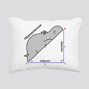Hippopotenuse Rectangular Canvas Pillow