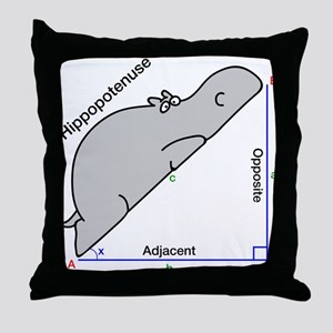 Hippopotenuse Throw Pillow