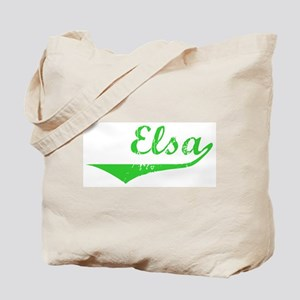 Elsa Vintage (Green) Tote Bag
