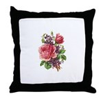 Floral - Victorian Roses Throw Pillow