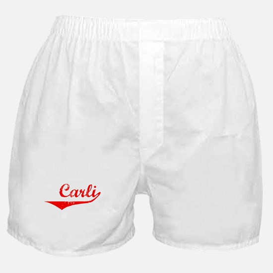 Carli Vintage (Red) Boxer Shorts