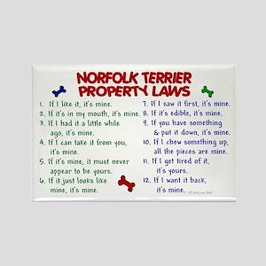 Norfolk Terrier Property Laws 2 Rectangle Magnet
