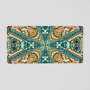 bohemian mandala tribal pat Aluminum License Plate