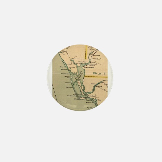 Vintage Map of Port Charlotte Florida Mini Button