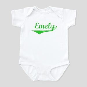 Emely Vintage (Green) Infant Bodysuit