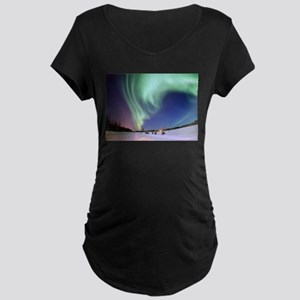 Northern Lights of Alaska Photog Maternity T-Shirt