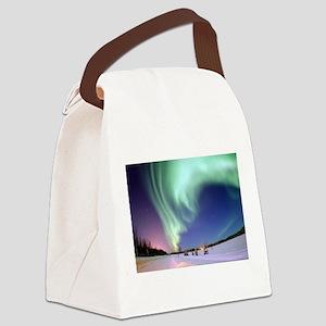 Northern Lights of Alaska Photogr Canvas Lunch Bag