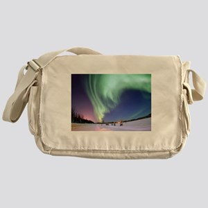 Northern Lights of Alaska Photograph Messenger Bag