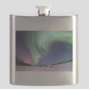 Northern Lights of Alaska Photograph Flask