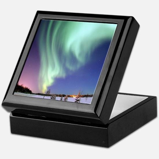 Northern Lights of Alaska Photograph Keepsake Box