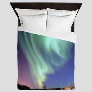 Northern Lights of Alaska Photograph Queen Duvet