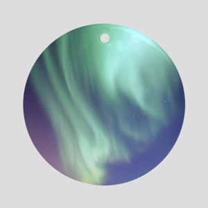 Northern Lights of Alaska Photograp Round Ornament