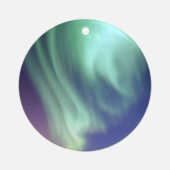 Northern Lights of Alaska Photograp Round Ornament