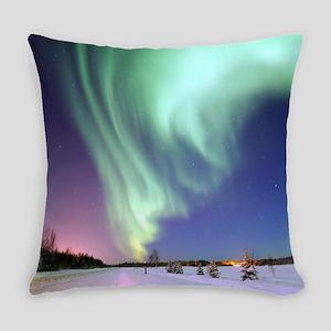 Northern Lights of Alaska Photogra Everyday Pillow