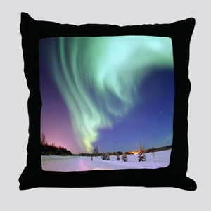 Northern Lights of Alaska Photograph Throw Pillow