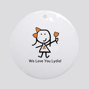 Orange Ribbon - Lydia Ornament (Round)